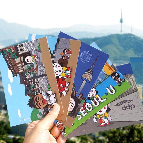::Korea Souvenir:: 서울여행엽서세트 Trip to Seoul Postcard set