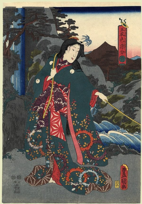 Blue by Utagawa Kunisada