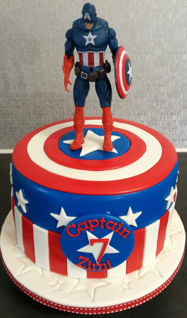 27 Inspiration Picture Of Captain America Birthday Cake Captain