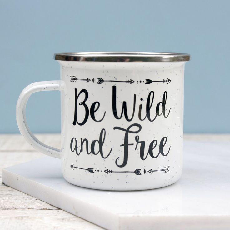 Be Wild & Free Enamel Mug