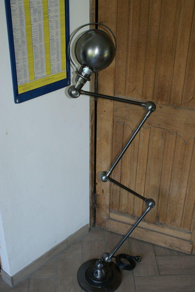 Beautiful Jielde Lamp 1950 4 Arms Graphite Steel Metal French Industrial