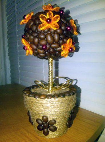 Cómo hacer un topiario con granos de café