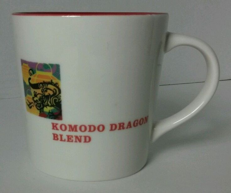 Starbucks New World Regions Komodo Dragon Blend Asia Pacific Map Mug Red Inside | eBay