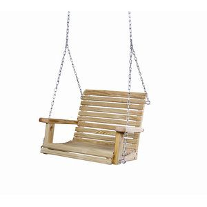 this gorilla playsets pine babysitter swing will give you comfort as you swing with your child comes with galvanized zinc chain and screwin eye hook