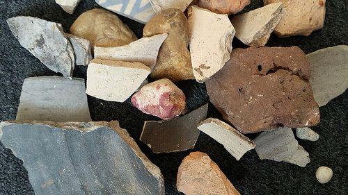 Roman pottery fragments - Jacqueline van der Venne