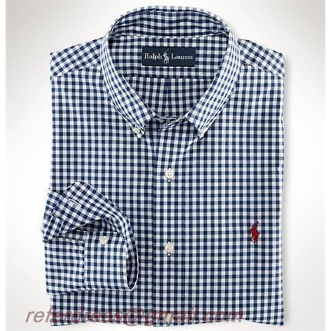 Cheap Polo Ralph Lauren Grey Leisure Plaid Shirts Buttons One Red Pony