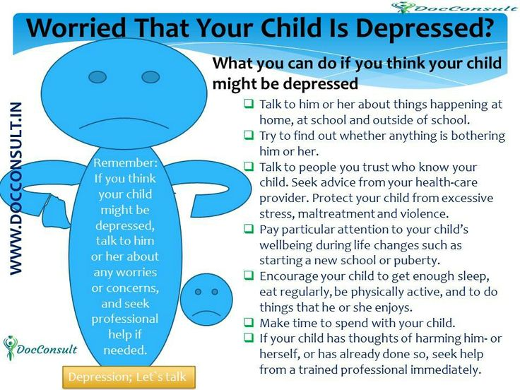 Worried that your child is depressed? What you can do if you think your child might be depressed..... More Information visit on  www.docconsult.in