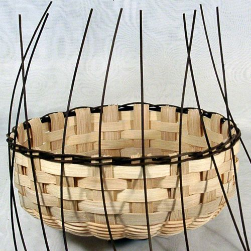 how to make a braid rim on a flat reed basket