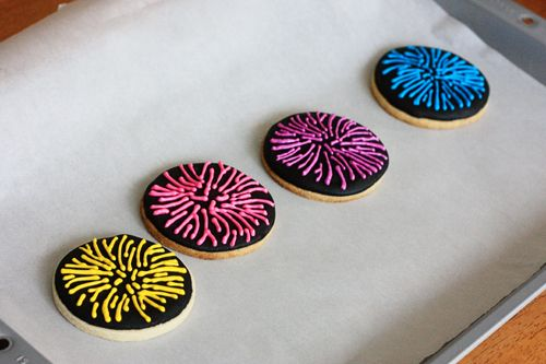 firework cookies | New Years Eve/Happy New Year! | Pinterest
