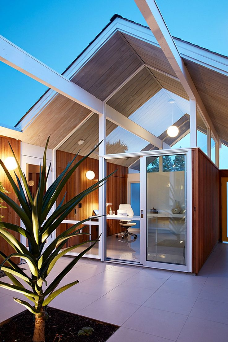 Mountain View Double Gable Eichler Remodel by Klopf