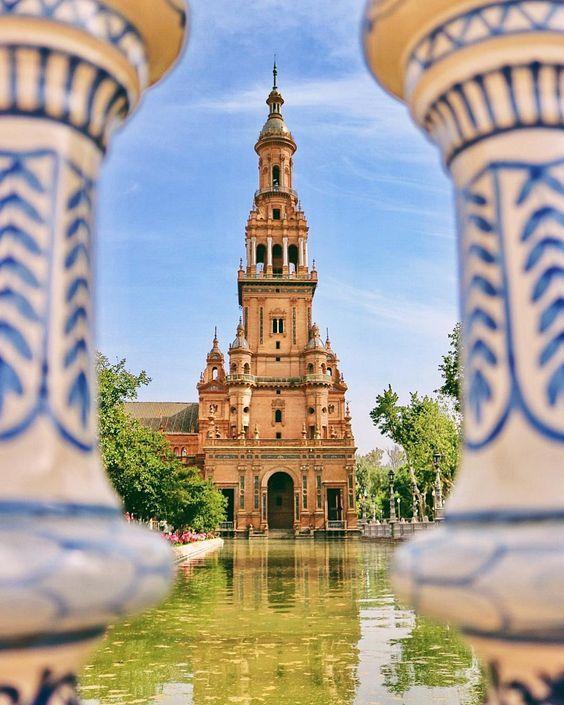 Plaza de Espana, Seville, Spain #travelgoals #spain