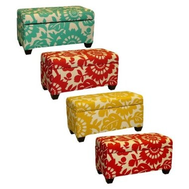 colorful storage bench.  I think I'd probably have to get both the yellow and turquoise because I wouldn't be able to decide.  You know, if I were rich.