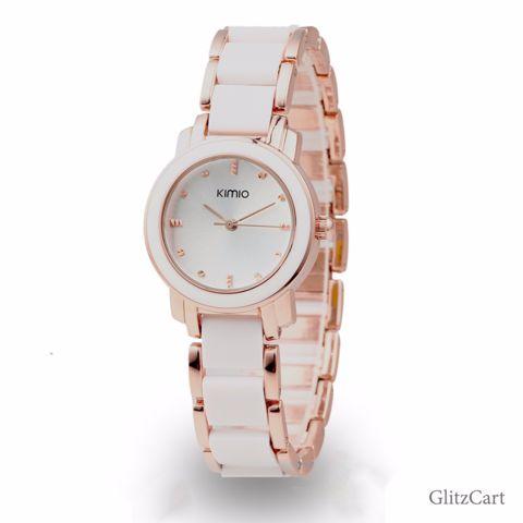 Retro Half Ceramic Quartz Bracelet Watch With 6 Variants