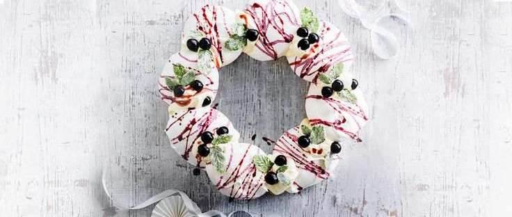 This cassis meringue wreath with champagne cream is a real show-stopping dessert but it's easy to make