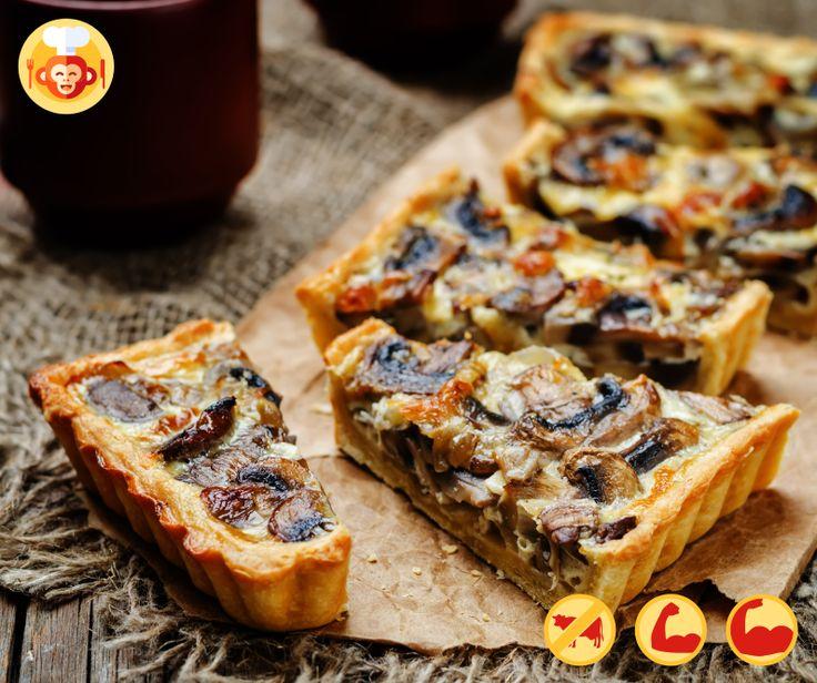 Wege tarta z pieczerkami.  #tart #mushrooms #bake #baking #homemeade #vegetarian #diet #easy #eggs #food #foodporn #foodmonkeys