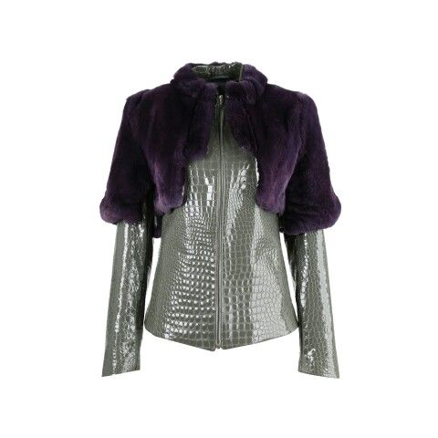 Kurtka skórzana z futrem  Leather jacket with fur