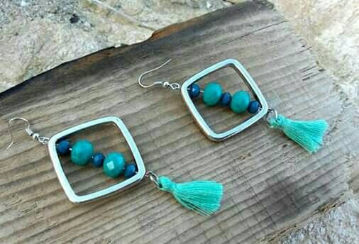 Rombus earrings by KassiArtFashion on Etsy