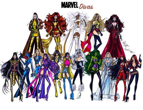 Marvel Divas by Hayden Williams
