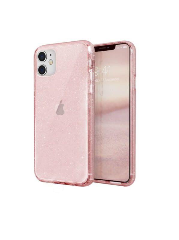 كفر للايفون 11 لايف برو تينسل لوكينت من يونيك 8211 شفاف بنك لماع Iphone Iphone Cases Electronic Products