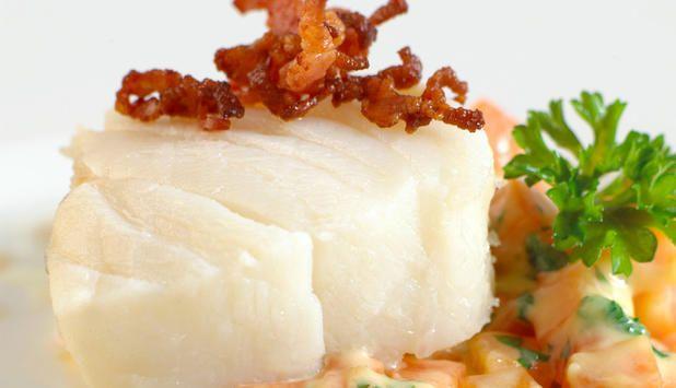 Kokt klippfisk med gulrotstuing. #fisk #oppskrift
