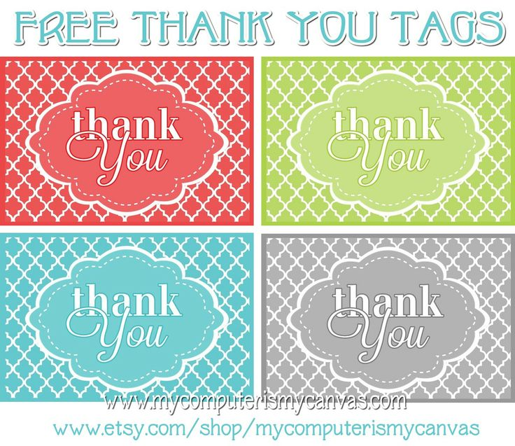 Free PRINTABLE Thank You Tags- these are usually limited time only! get it now while it's available!