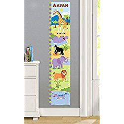 Wild Animals Personalized Wall Decal Growth Chart By Olive Kids