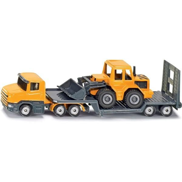 Jual beli LOW LOADER TRUCK WITH FRONT LOADER Diecast SIKU di Lapak Rijal - rijal6683. Menjual Diecast - The Siku Low Loader Truck Diecast is essential when transporting large equipment, and in this case it's a construction Front Loader. Deliver the front loader to the construction site so that the workers can start building things!  Includes front loader construction vehicle and truck that has a tailgate that can be lowered. SIKU toy models are accurately detailed, robust, and provide a m...