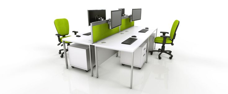 White Office Furniture Range - Green