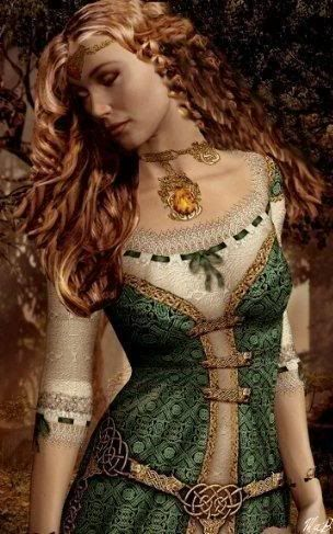 """Celtic Goddess Brighid  Origins of Brighid: In Irish mythological cycles, Brighid (or Brighit), whose name is derived from the Celtic brig or """"exalted one"""", is the daughter of the Dagda, and therefore one of the Tuatha de Dannan. Her two sisters were also called Brighid, and were associated with healing and crafts. The three Brighids were typically treated as three aspects of a single deity, making her a classic Celtic triple goddess."""