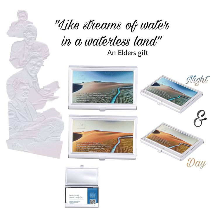 """Excited to share the latest addition to my #etsy shop: JW.org gift,  congregation Elder gifts. Isaiah  32:2 """"Like streams of water in a waterless land""""  card holder. Business card holder."""
