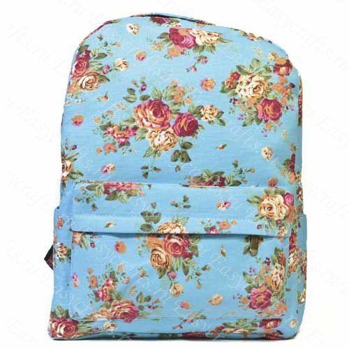 """Рюкзак с цветами """"Голубой"""". Товары для творчества и подарки. Доставка по всей России."""