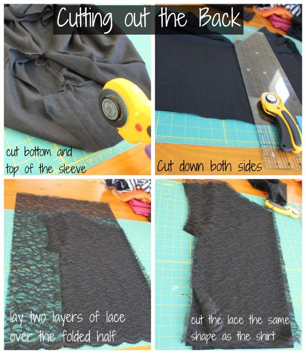 DIY Lace T-Shirt Refashion