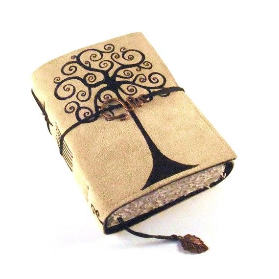 $48 gorgeous leather notebook with handbound pages.
