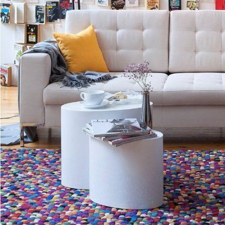 2er-Set Beistelltisch Elipse MDF Weiß Hochglanz Nachttisch Couchtisch Wohnzimmer Sofa Couch Tisch Home24 NEU: Amazon.de: Küche & Haushalt