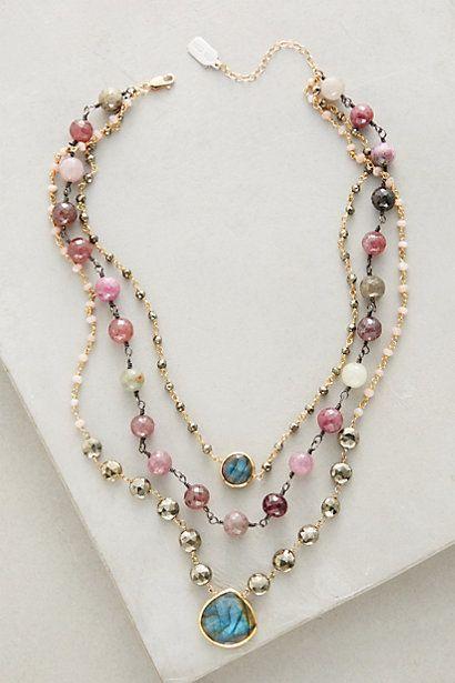 Layered Gemstone Necklace #anthropologie