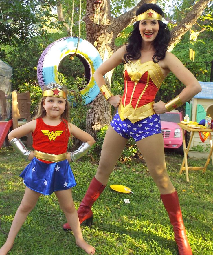 Practice your power pose with our Wonder Woman at your next party. (818) 305-4539 PrincessAndMeParties.com