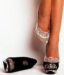Elegant Heels-I LOVE these little footie socks!