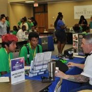Teens in the YMCA Achievers and Camper in Leadership Training programs learned about college and careers at Wake Tech.
