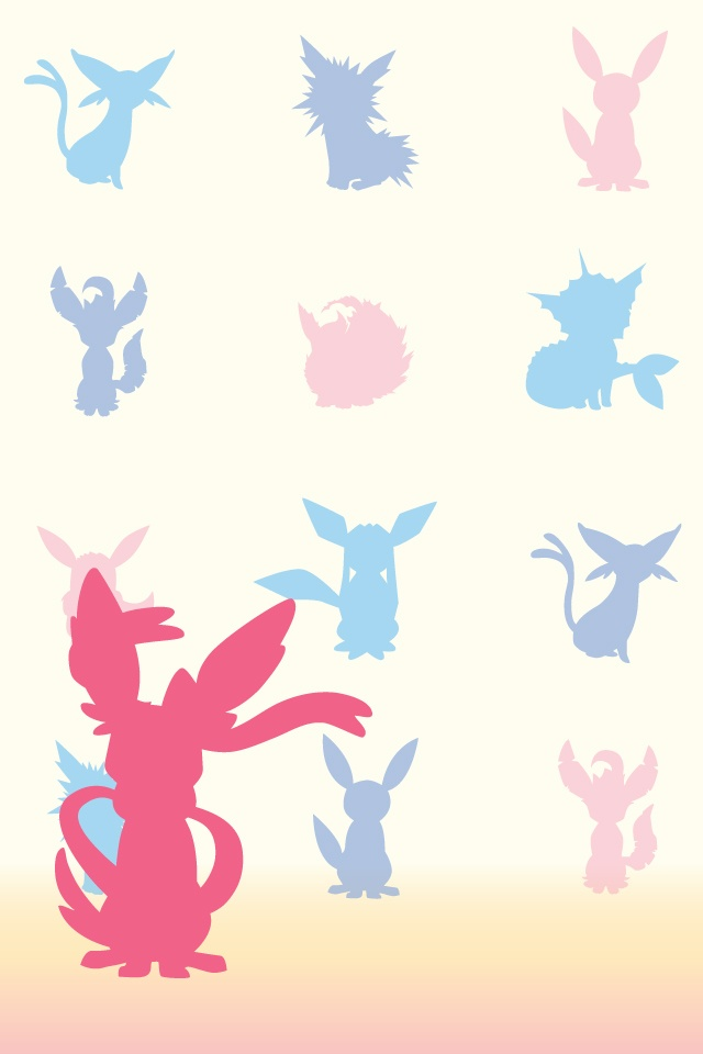 Great use of outlines showing the different evolutions of Eevee.  I like how each evolution has a different color with it, but I just wish that the artist only used each evolution once, because that confused me quite a bit.  I like the gradients in the background, but I feel that it should be cropped with the bottom.