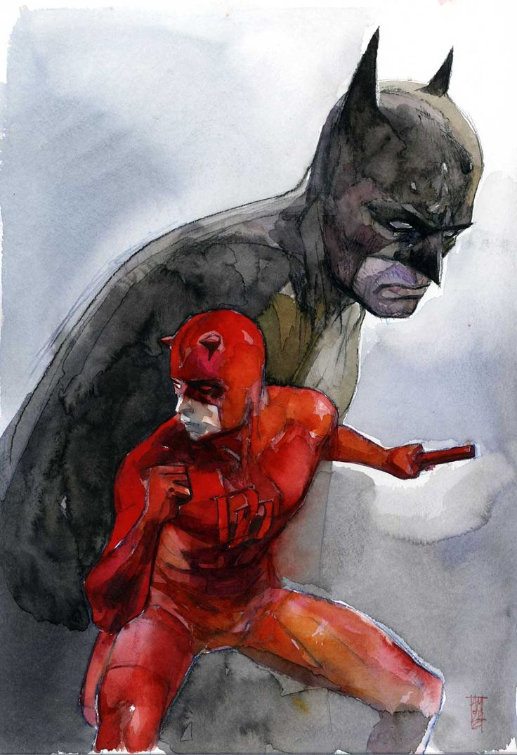 redcell6:  Batman & Daredevil by Alex Maleev  Make it a series. Call it Blind as a Bat.