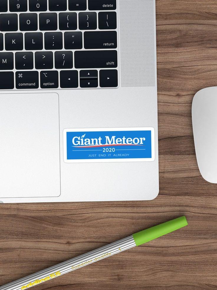 """""""Giant Meteor 2020"""" Sticker by soccerjoe , Sponsored,"""