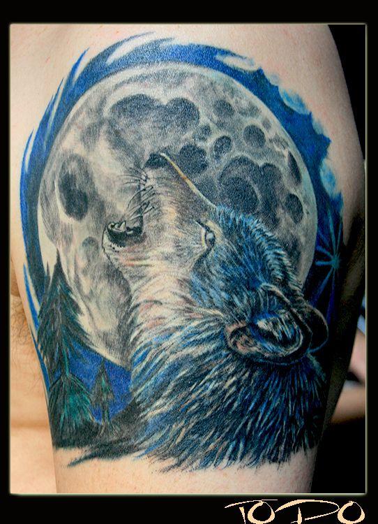 32 best Full Wolf Moon Tattoo images on Pinterest | La ...