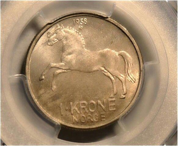 1 krone 1958 kv0
