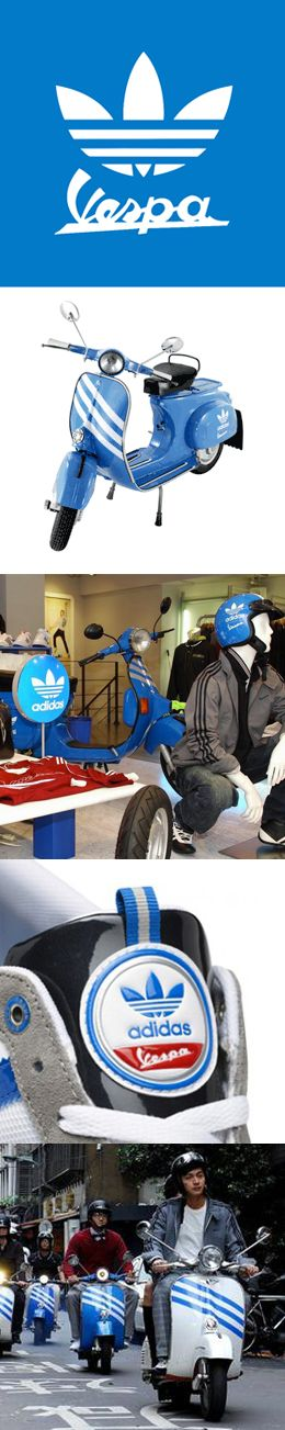 Adidas & Vespa #Cobranding