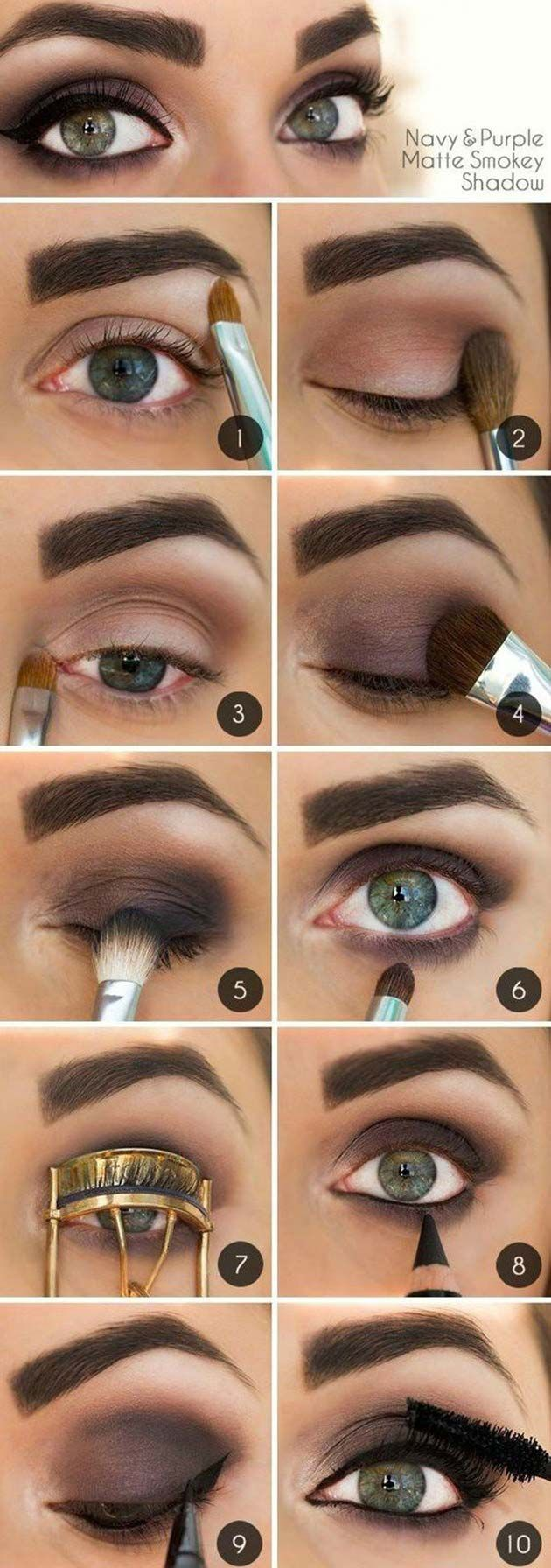 Matte smokey eye makeup for fall. #makeup #tutorial #womentriangle