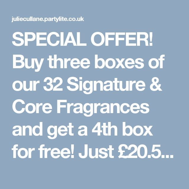 SPECIAL OFFER! Buy three boxes of votives and get a 4th box for free! Mix and match from 32 fragrances!