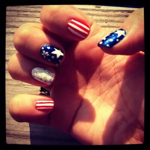 memorial day designs for nails