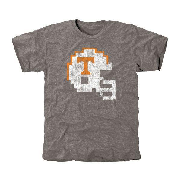 Tennessee Volunteers 8-Bit Football Tri-Blend T-Shirt - Ash - $24.99