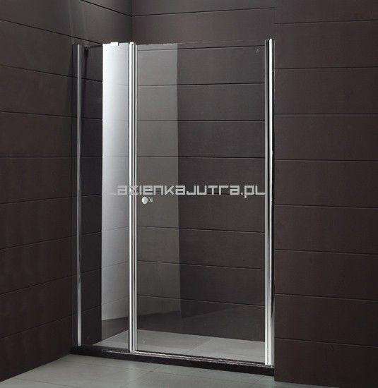 MULTISPACE Drzwi prysznicowe 115x190, profile chrom, szkło transparentne + powłoka EasyClean Łazienka Jutra