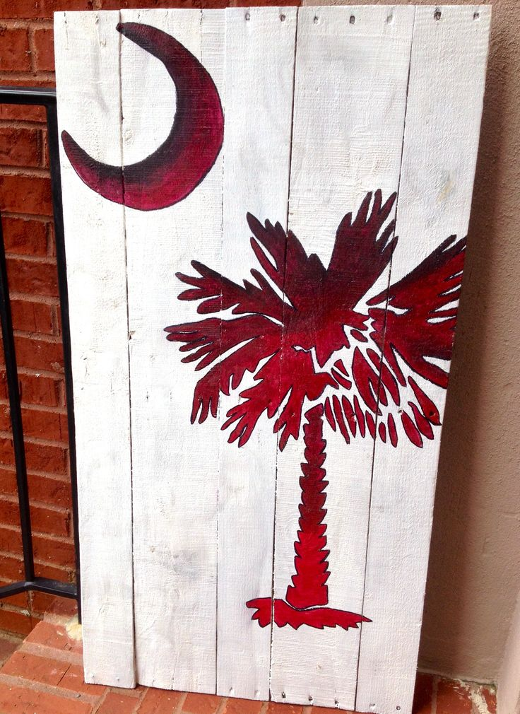 """South Carolina"" #pallet #painting #gamecocks"